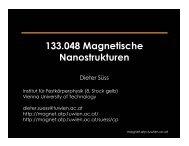 133.048 Magnetische Nanostrukturen