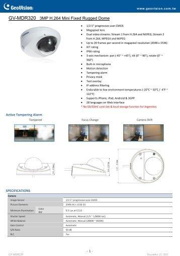 GV-MDR320 - Remote-security.com