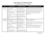 Young Children with Challenging Behavior - PACER Center