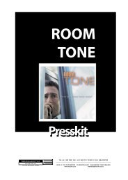 Room Tone Press Kit.pdf - New Zealand Film Commission