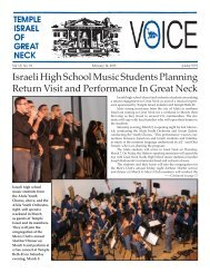 February 14 - Temple Israel of Great Neck