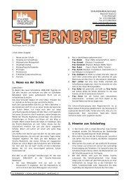 Elternbrief 1 2006/07 - Staufer Realschule
