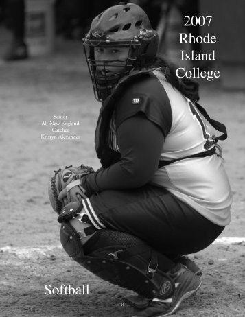 2007 Rhode Island College Softball - Rhode Island College Athletics