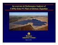 Performance Analysis Of 5Mwp solar PV Plant - Rajasthan ...