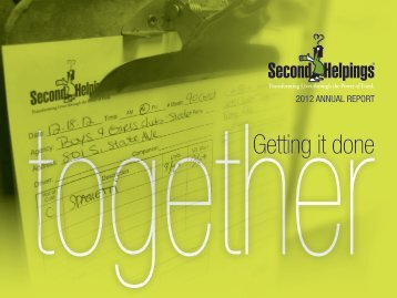 2012 Annual Report (pdf) - Second Helpings
