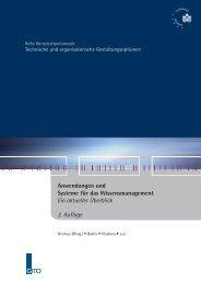 Anwendungen und Systeme für das ... - GITO Verlag
