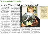 Woran Manager Klinsmann scheiterte - Dr. Kraus & Partner