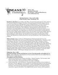 Spring 2005 - Northeast Aquatic Nuisance Species Panel