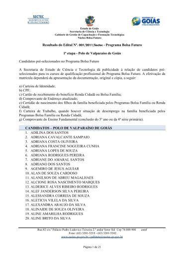 Programa Bolsa Futuro 1ª etapa - Polo de Valparaíso de ... - Sectec