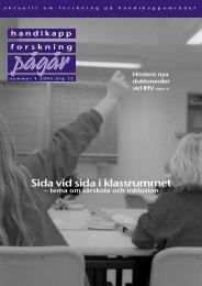 Nummer 4 - Centrum för forskning om funktionshinder - Uppsala ...