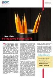 Singapore Budget 2013