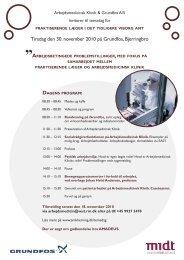 Tirsdag den 30. november 2010 på Grundfos, Bjerringbro :