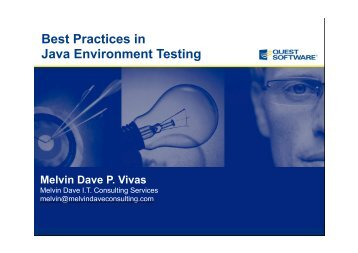 Best Practices in Java Environment Testing - Quest Software