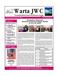 Warta JWC (Agst'05).FH10 - binus university