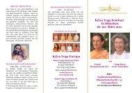 Kriya Yoga Europa Kriya Yoga Seminar in München 18.-20. März ...