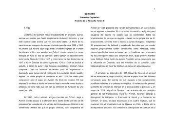 OCKHAM I Frederick Copleston Historia de la Filosofía Tomo III 1 ...