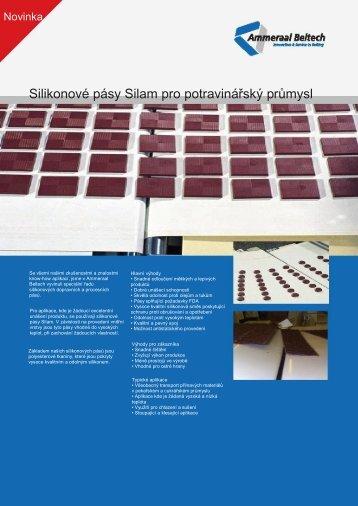 Silikonové pásy Silam pro potravinářský průmysl
