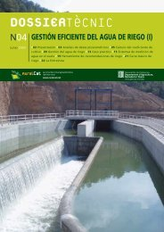 Dossier Tècnic.Gestión eficiente del agua de riego - RuralCat