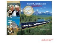 Rocky Mountaineer Train Routes - Banff vacations – tours