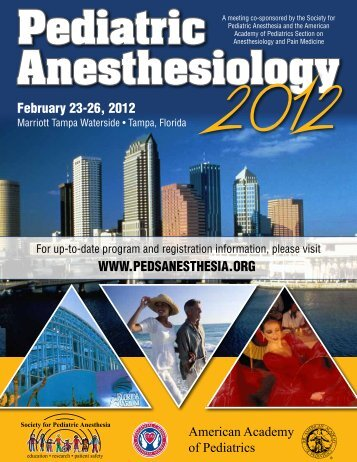 Pediatric Anesthesiology 2012 - The Society for Pediatric Anesthesia