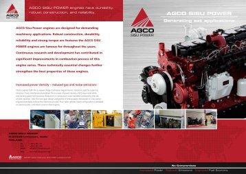 AGCO SISU POWER Generating set applications - AGCO Power