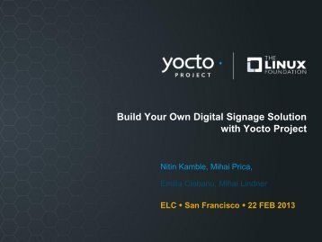 Build Your Own Digital Signage Solution with Yocto Project