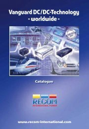 Detailed Information see - Recom International Power Gmbh