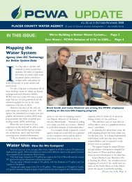 2008 10-11 Customer Newsletter - Placer County Water Agency