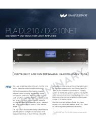 PLA DL210 DSP Loop Amplifier Sell Sheet - Williams Sound