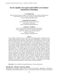 Service Quality (Servqual) and its Effect on Customer ... - EuroJournals