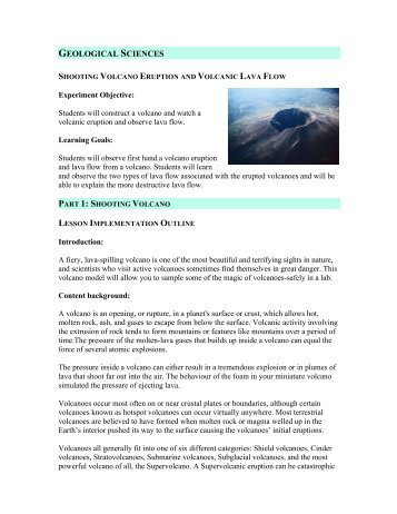 GEOLOGICAL SCIENCES - Michelle Wang