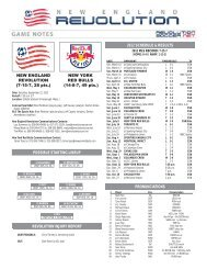 possible starting lineup 2012 schedule & results revolution injury ...