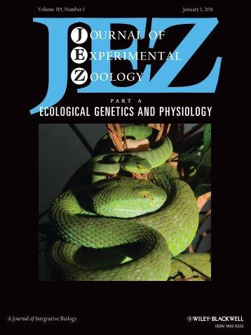 A Journal of Integrative Biology