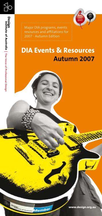 DIA Events & Resources Autumn 2007 - Design Institute of Australia