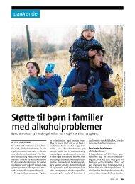 Støtte til børn i familier med alkoholproblemer - Stof