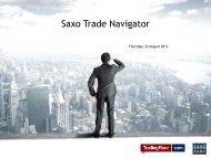 Saxo Trade Navigator