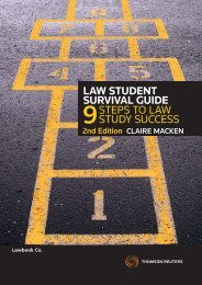 Law StudEnt SurvivaL GuidE StePS to LAw ... - Thomson Reuters