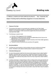 Briefing note - Meetings, agendas, and minutes
