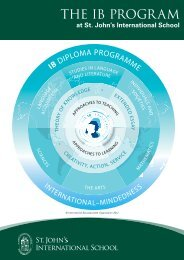 IB Program Brochure - St. John's International School