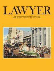 February 2013 Lawyer Magazine - Hillsborough County Bar ...