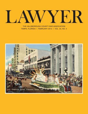 February 2013 Lawyer Magazine - Hillsborough County Bar ...