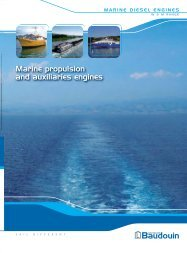 Rated power for marine propulsion Rated power for auxiliaries ...