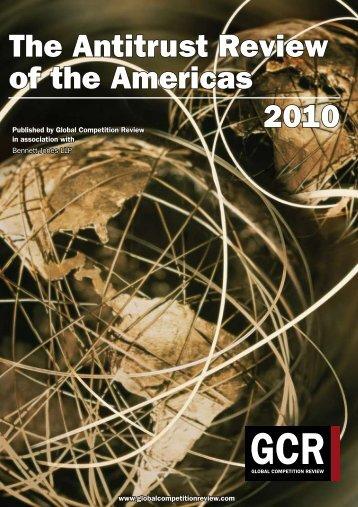 The Antitrust Review of the Americas 2010 - Bennett Jones