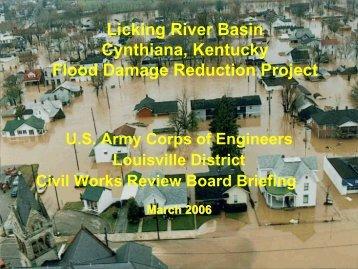 Licking River Basin Cynthiana, Kentucky Flood Damage Reduction ...