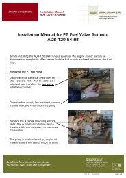 Installation Manual for PT Fuel Valve Actuator ADB-120-E4-HT