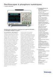 Oscilloscopes à phosphore numériques - Tektronix