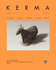 2 0 0 9 - 2 0 1 0 SOUDAN - Kerma