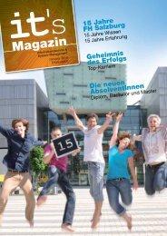 its Magazin (1. Ausgabe, Oktober 2010) - Fachhochschule Salzburg