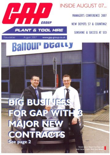 Newsletter Aug 07 All pages.qxp - GAP Group