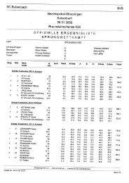 Ergebnisse - Ski Club Bubenbach e.V.